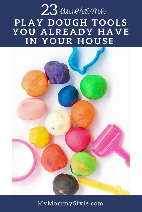 play dough tools you already have in your house