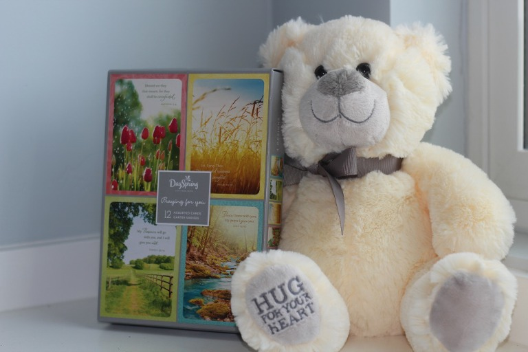 DaySpring, gifts, gift giving, cards, style and grace, desk calendar, teddy bear