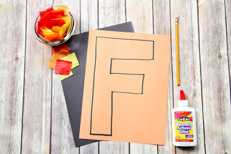 f is for fire, letter of the day