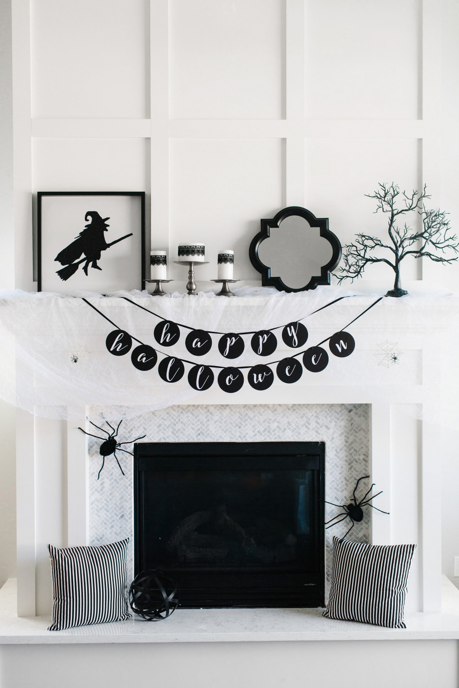 13 Spooktacular Halloween Ideas for Your Fireplace Mantel