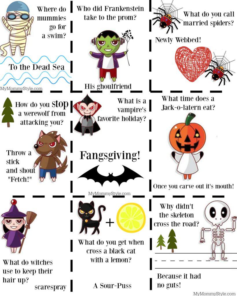 Free <b>Halloween</b> Joke Printables for <b>Kids</b> - My Mommy Style