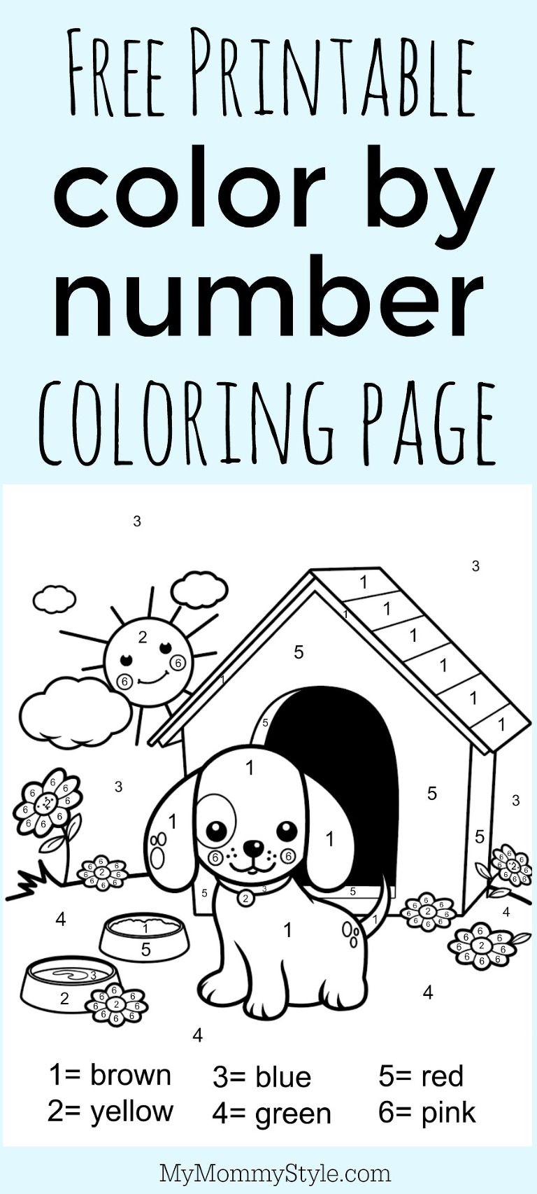 image relating to Color by Numbers Free Printable named Colour by means of amount coloring website page no cost printable - My Mommy Layout