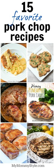 Delicious pork chop recipes that will be family favorite recipes. A little bit of everything, 30 minute pork recipes, grilled pork chops, smothered pork chops, and baked pork chops.