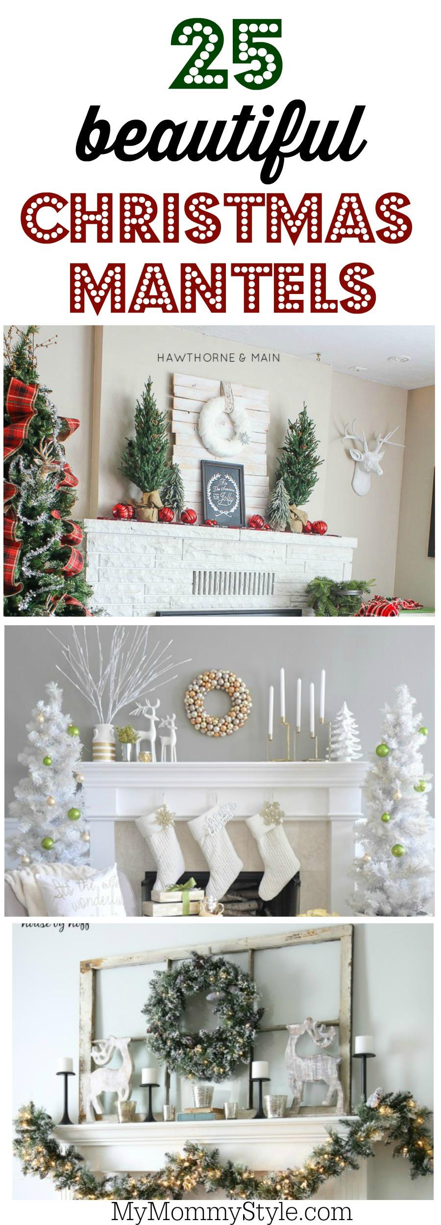 25 beautiful mantel decorating ideas - Beautiful Christmas Mantel Decorations