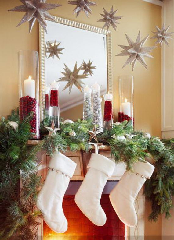 Christmas mantel ideas - My Mommy Style