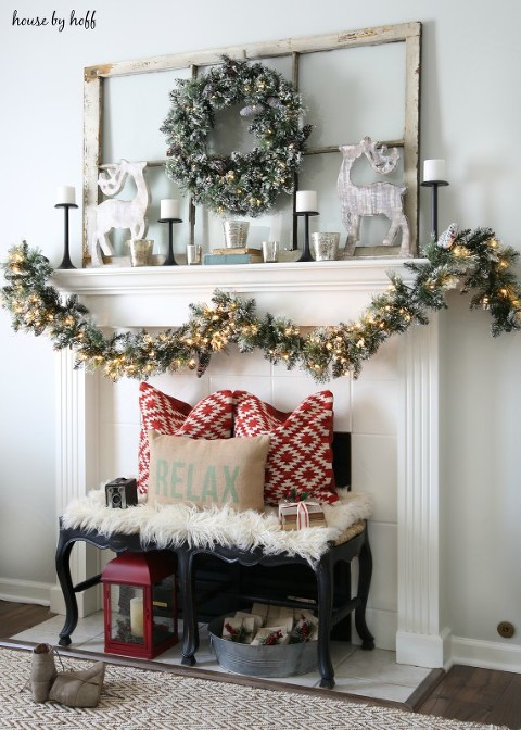 Relax christmas mantel
