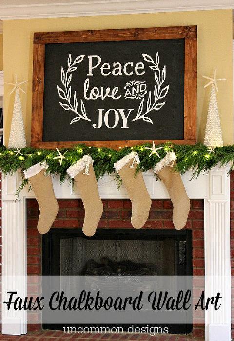 Peace Love Joy christmas-mantel