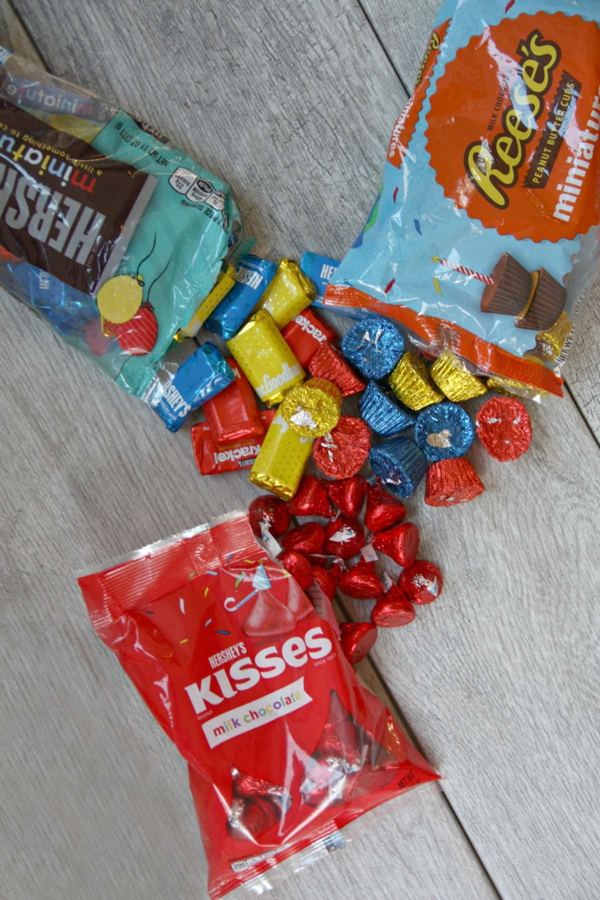 Dont These Hersheys Kisses Chocolates Look So Beautiful I Love The Bright Colors Birthday Parties With Are Festive And Delicious