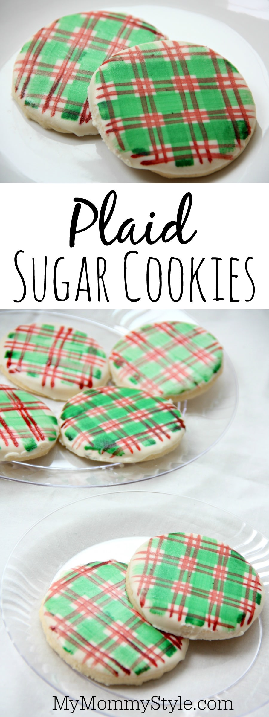 Easy to make plaid Christmas sugar cookies - My Mommy Style