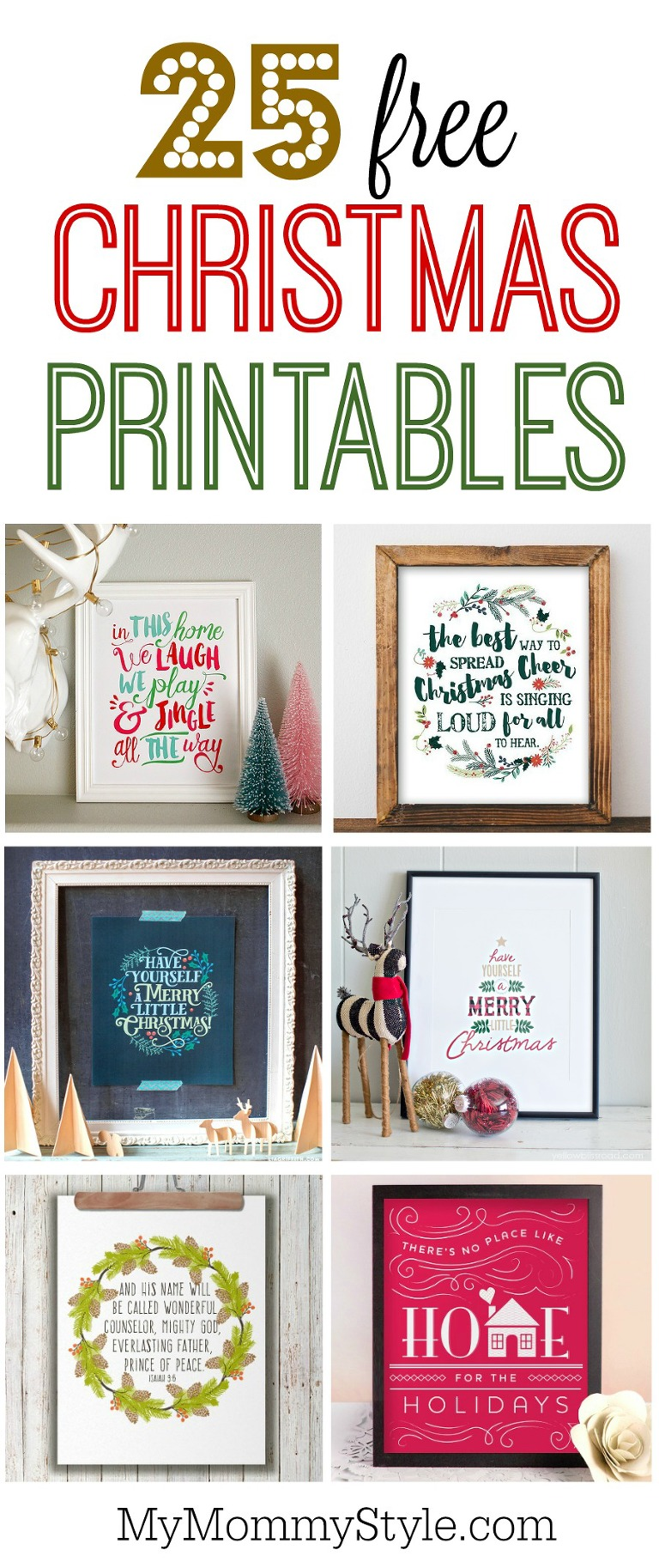 photo regarding Free Printable Christmas named 25 no cost Xmas printables - My Mommy Layout