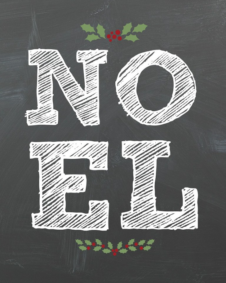 Chalkboard noel sign