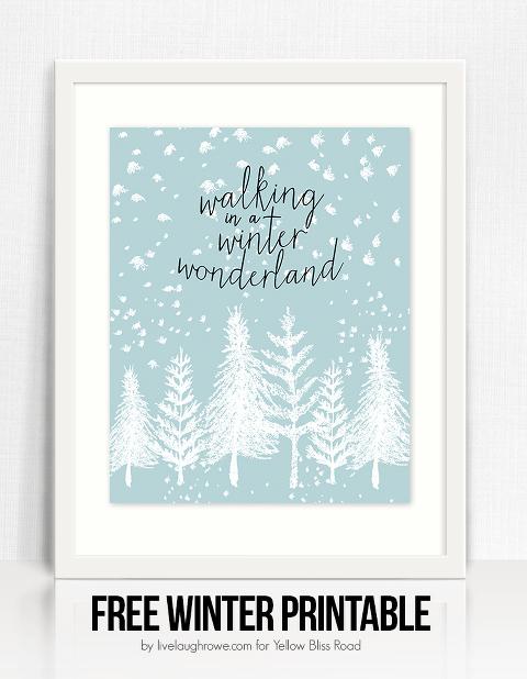 Walking in a winter wonderland sign