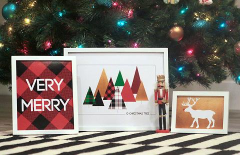 Modern Christmas prints