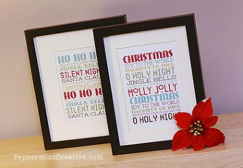 Christmas subway prints