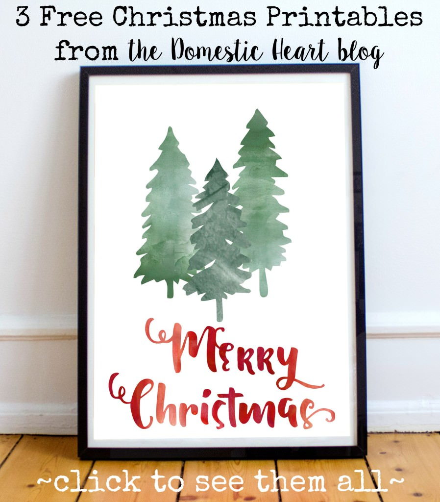 It is a graphic of Peaceful Free Christmas Printable