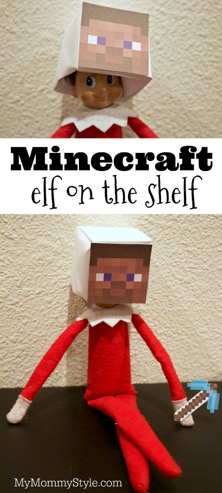 image relating to Minecraft Masks Printable identified as Minecraft elf upon the shelf - My Mommy Style and design