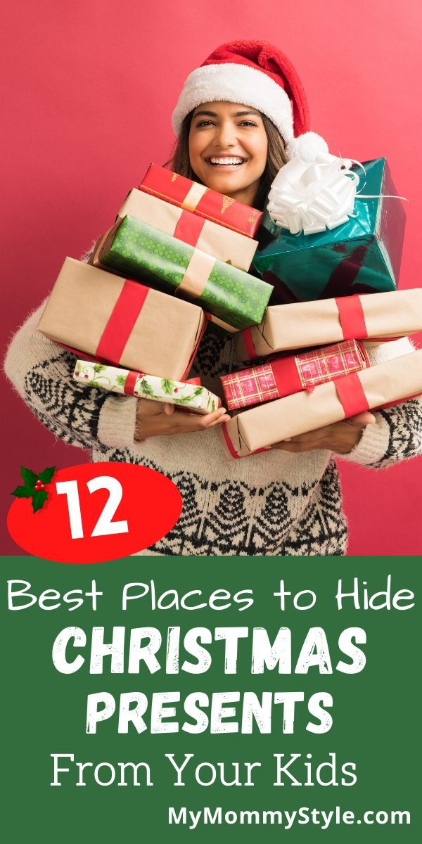 Looking for ideas of where to put gifts before the big day? Here are 12 of the Best Places to hide Christmas Presents from your kids. #BestplacestohideChristmaspresents #Christmaspresents #howtohidechristmaspresents via @mymommystyle
