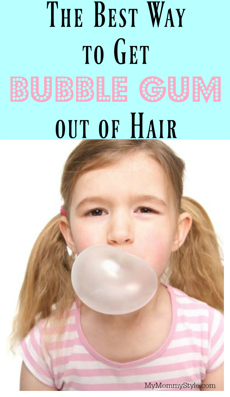 The Best Way To Get Gum Out Of Hair