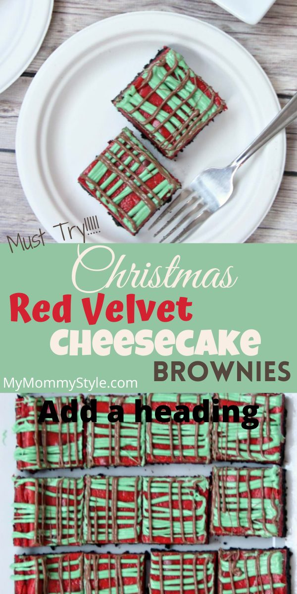 Red Velvet Cheesecake Brownies are the best dessert for your festive holiday party. They are the perfect blend of chocolate and cheesecake. #redvelvetcheesecakebrownies  via @mymommystyle