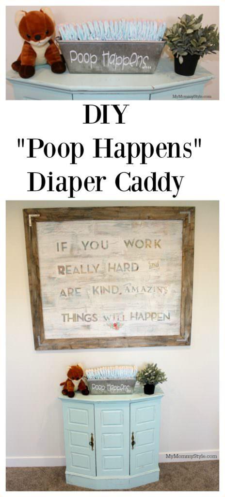 Poop Happens Diaper caddy DIY & Cricut Explore Air 2