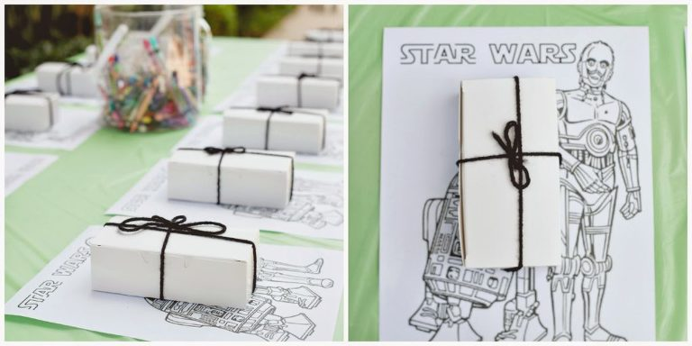 Up close Star Wars Build a fighter ship supplies