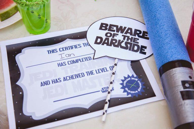 Star Wars Certificate