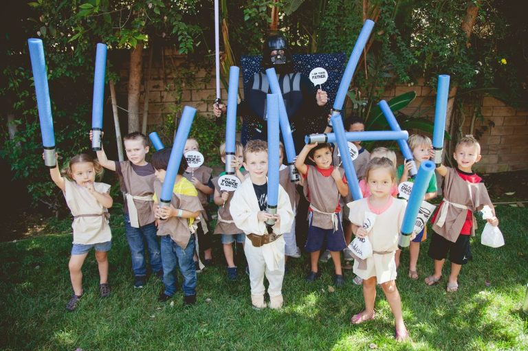 Star Wars group party photo