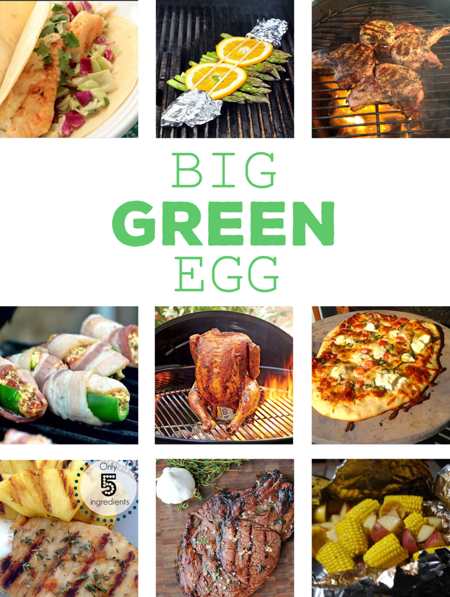 Here are 10 amazing Big Green Egg recipes to give you some grilling ideas for these warmer nights. From meat to veggies to pizza we've got you covered! via @mymommystyle