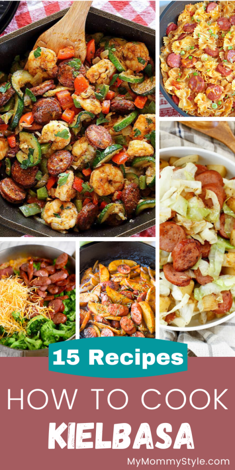 Collage of kielbasa recipes
