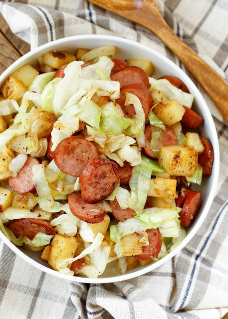 kielbasa cabbage potato skillet