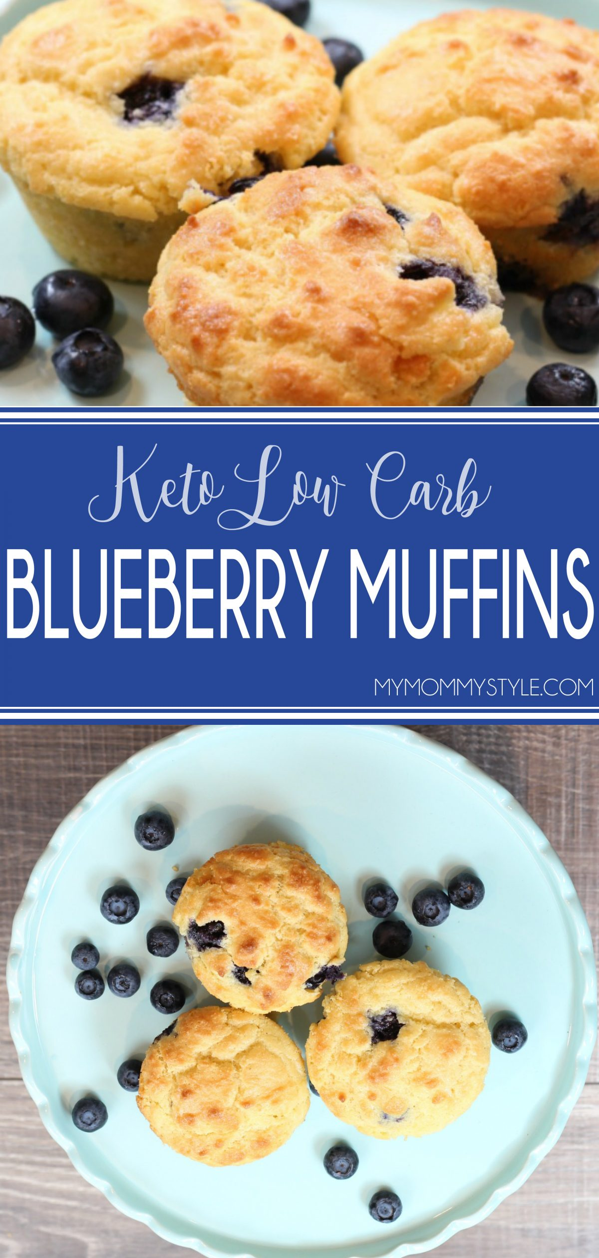These Keto low carb blueberry muffins really hit the spot and tasted amazing. There are almost no carbs and they were fluffy and tasted so good! via @mymommystyle