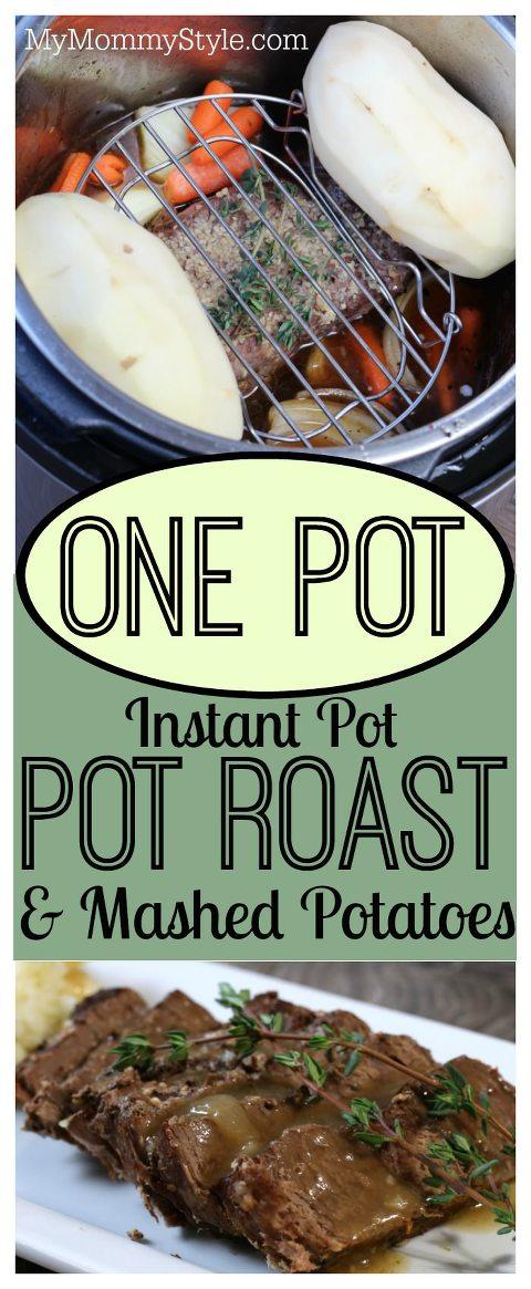 One Pot Instant Pot Pot Roast Mashed Potatoes