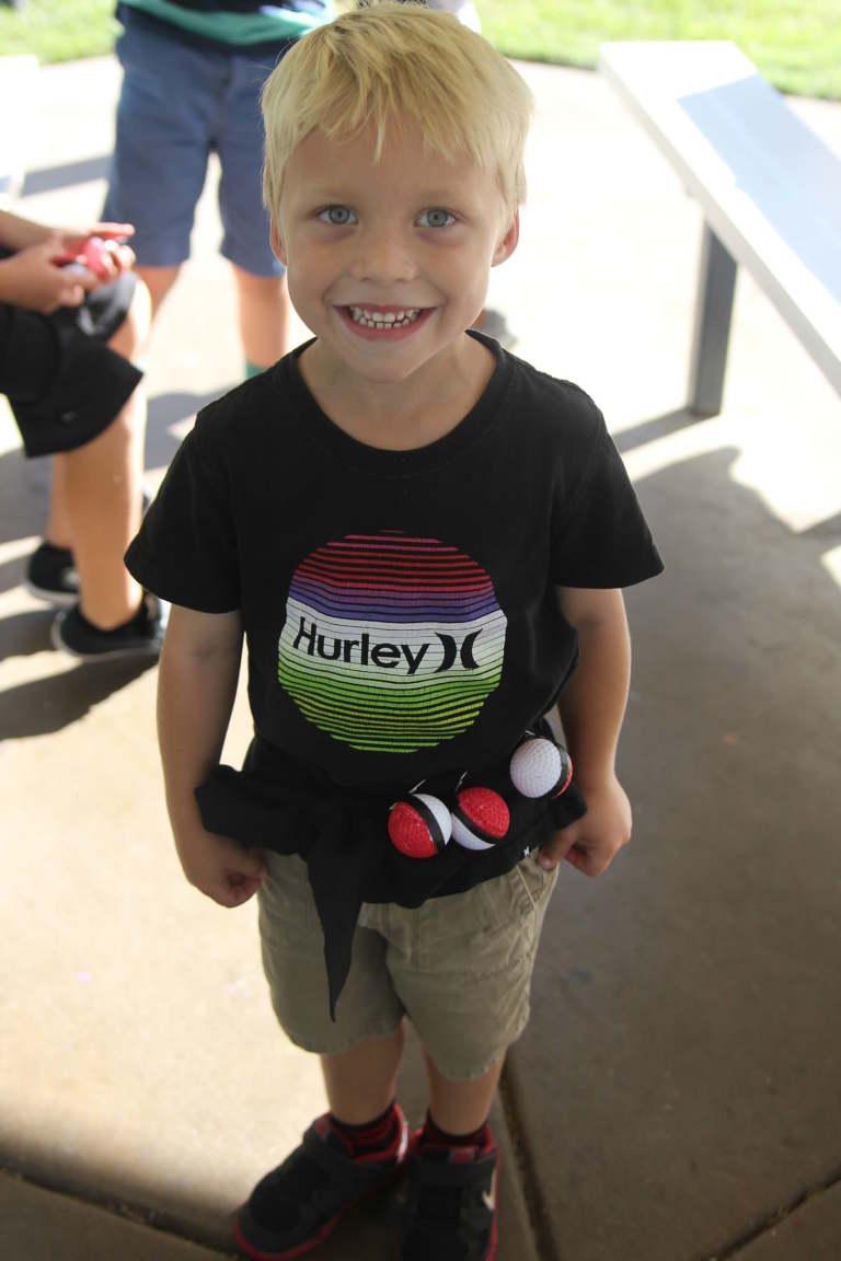 Boy wearing Pokemon Belt with Poke Balls