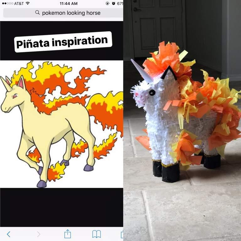 Rapidash Piñata inspiration