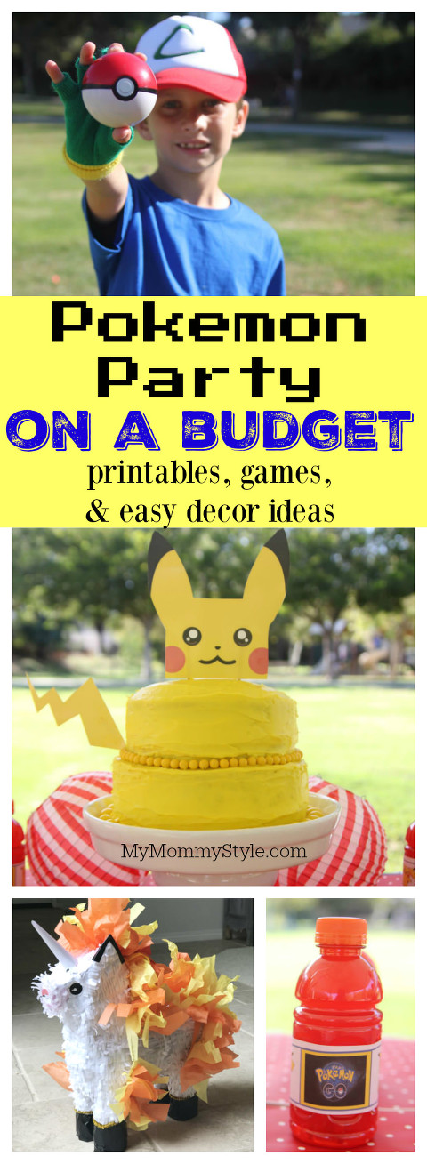 picture about Printable Pokemon Party Games referred to as Pokemon Get together Upon a Finances - My Mommy Style and design