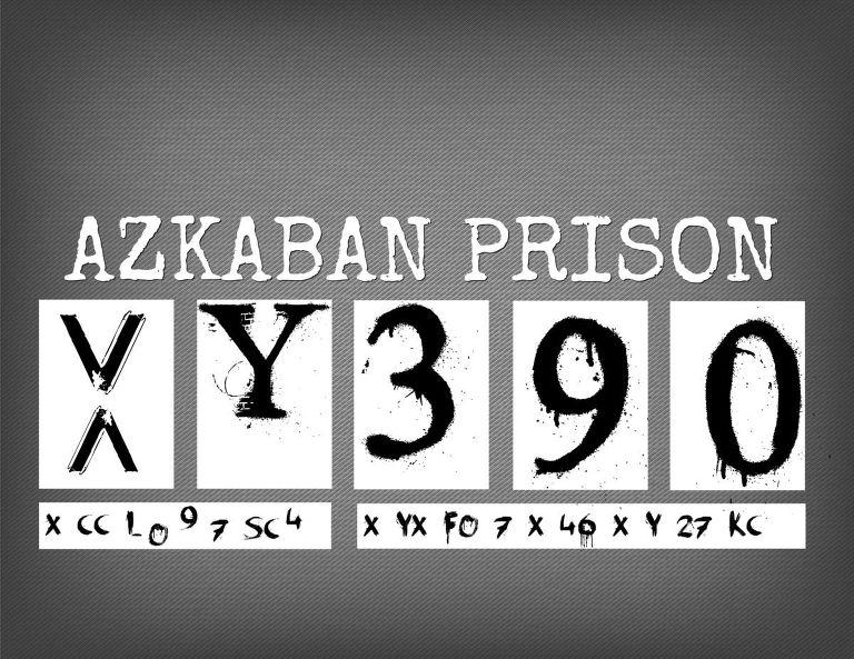 Azkaban Prison Printable sign for Harry Potter.