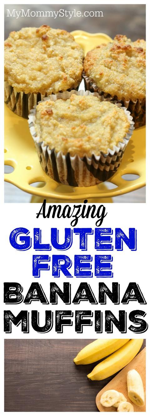 Amazing Gluten Free Banana Muffins