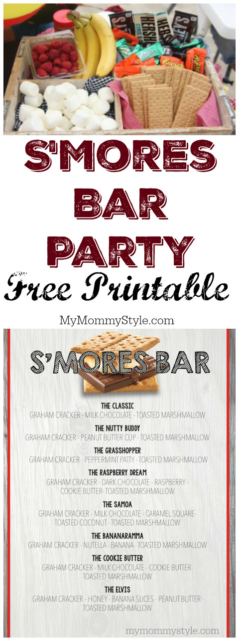 I Used The Same Smore Menu For A Birthday Party My Youngest Son When He Turned One Theme Started With Idea Of Wanting To Do Something