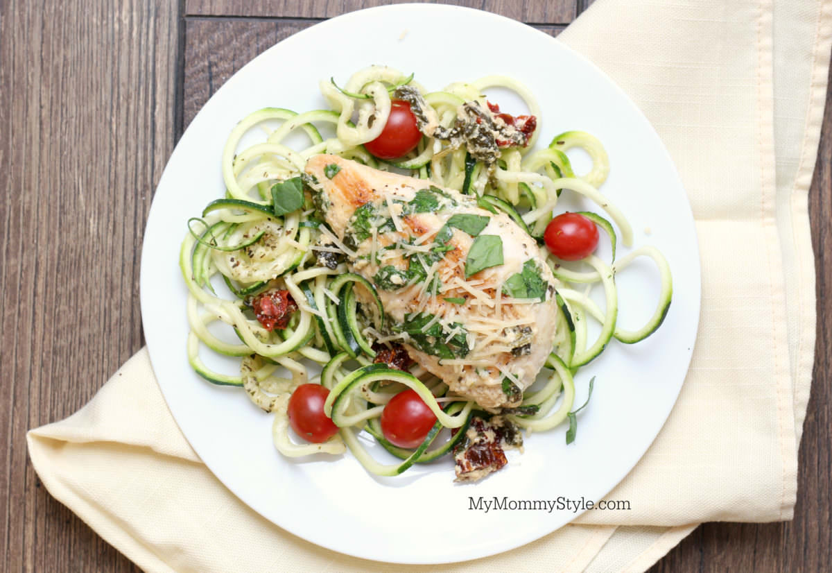 Creamy Tuscan Garlic Chicken Lean Amp Green With Zoodles My Mommy Style