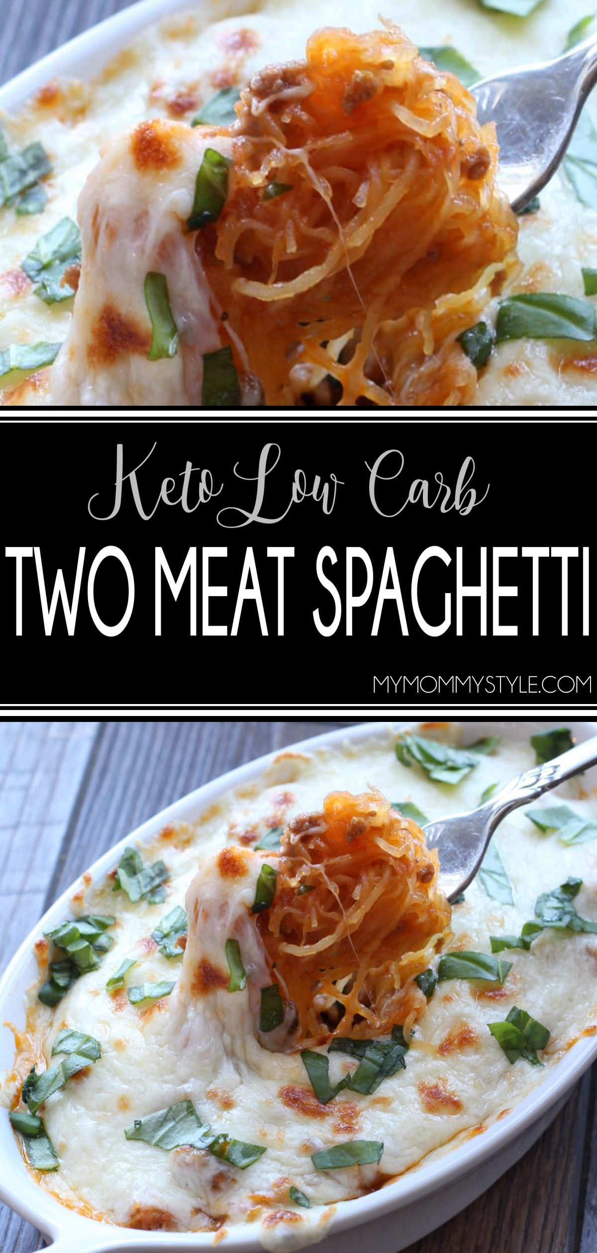 This keto low carb spaghetti is a healthy variation of my mom's amazing two meat spaghetti.  The flavor that comes from combining ground beef and Italian sausage is mind blowing! via @mymommystyle