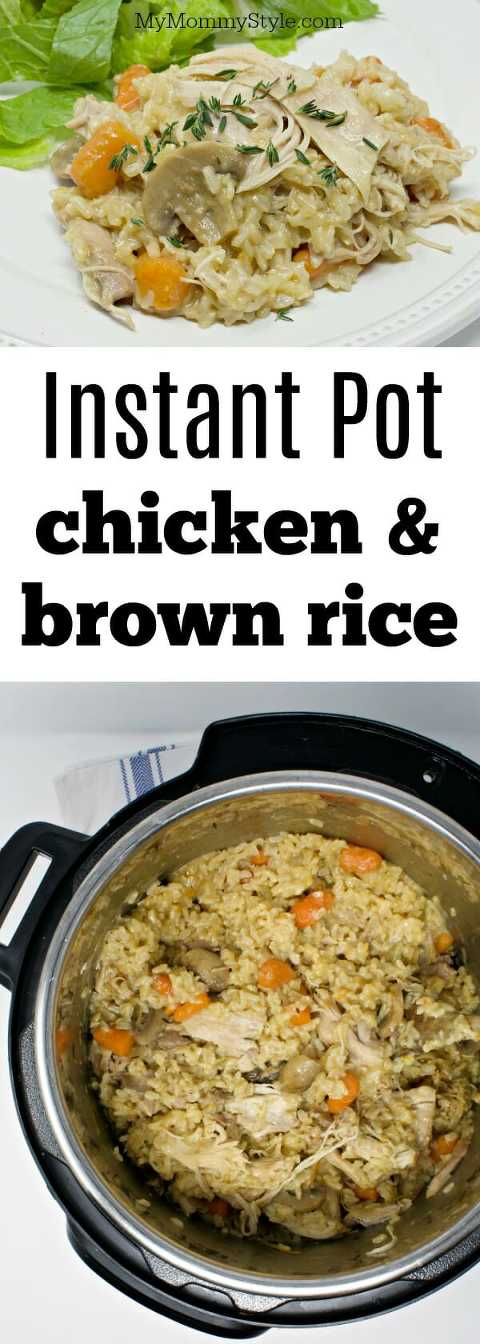 Instant pot chicken and brown rice