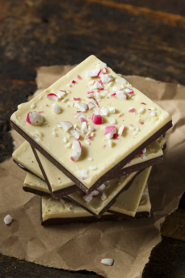 Stack of Peppermint Fudge