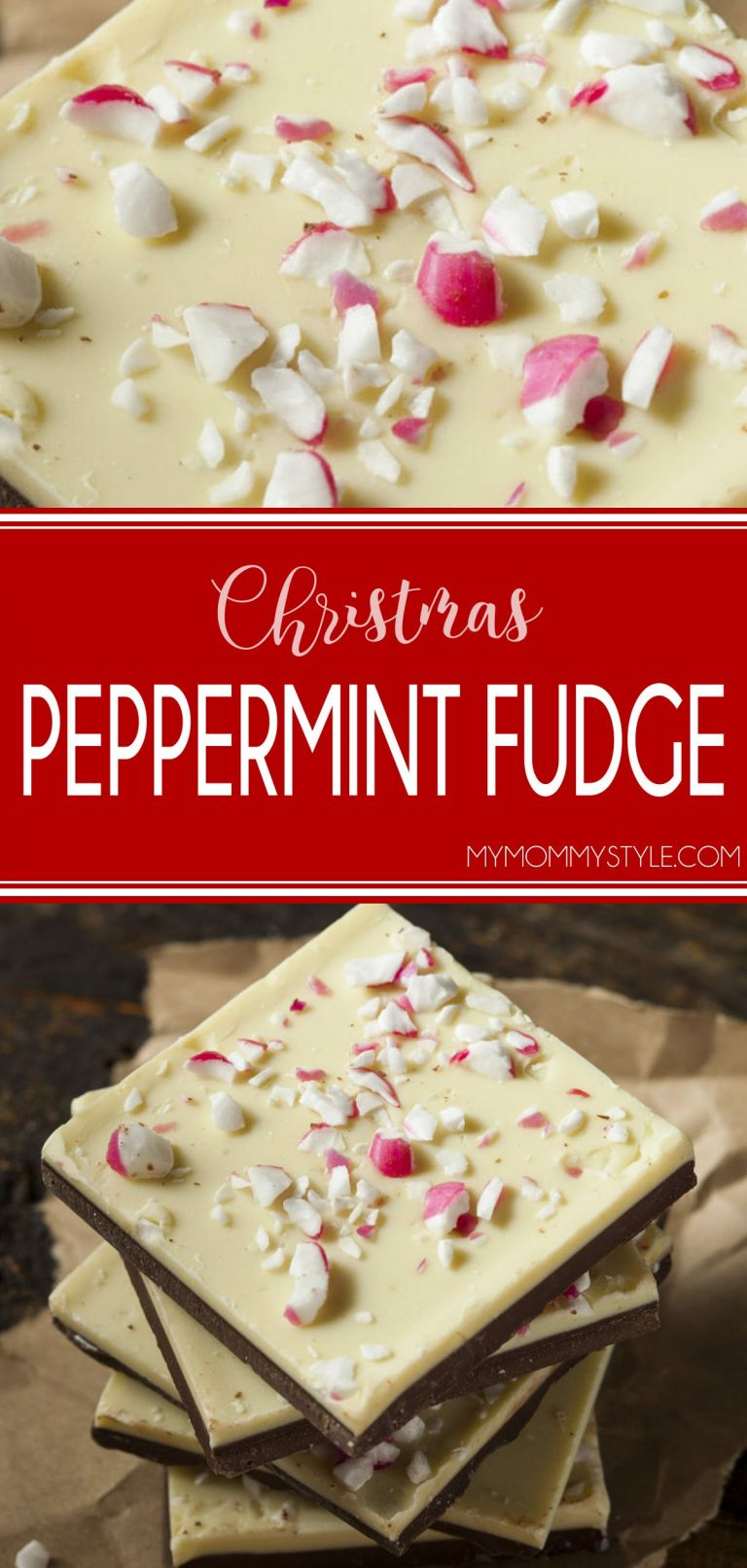 delicious peppermint fudge that is perfect for Christmas time