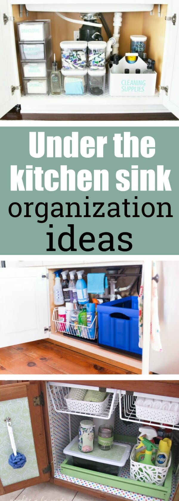 Under the kitchen sink organization ideas - My Mommy Style