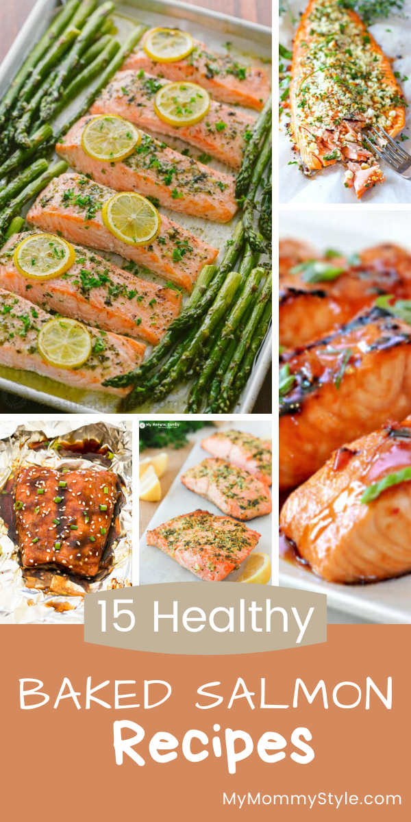 15 favorite baked salmon recipes rounded up from around the internet. These are all healthy recipes and so delicious. #bakedsalmon via @mymommystyle