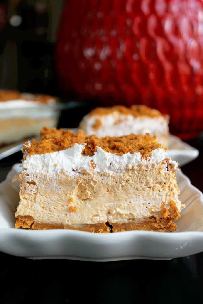no bake pumpkin cheesecake lasagne