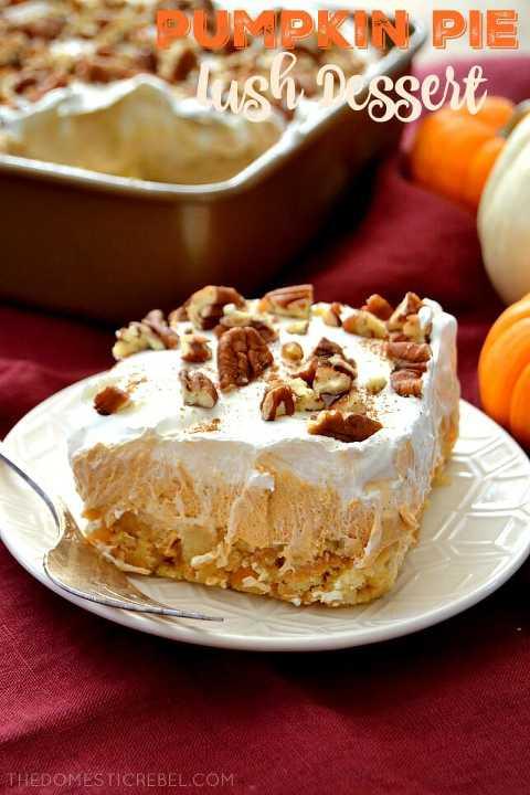 pumpkin pie lush dessert