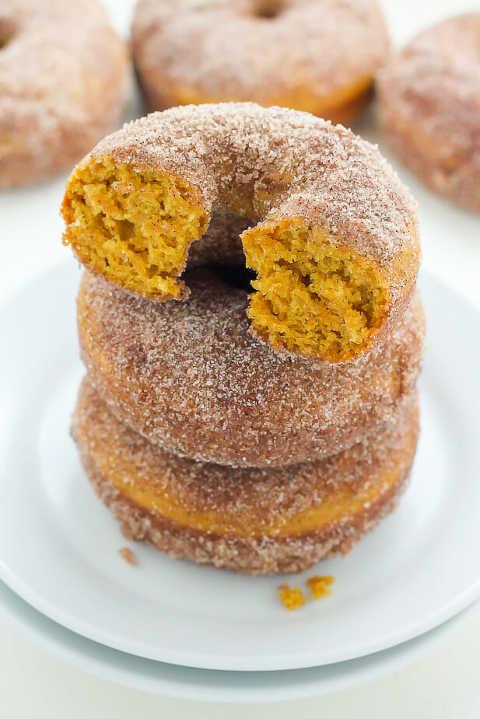 pumpkin cinnamon sugar donuts