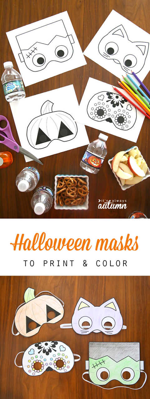 printable halloween masks from its always autumn