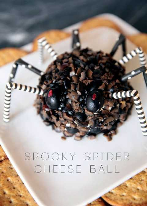 Spooky Spider cheeseball